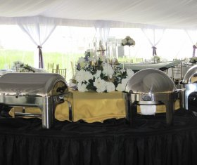 Buffetware at Tented Event
