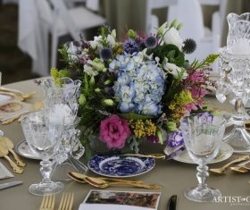 Beautiful floral Centerpiece on Table