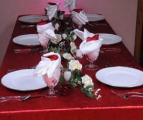 Long tables setup with Tableware