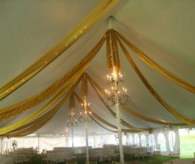 Beautiful Gold Tent Fabric