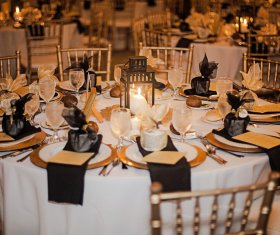 Gorgeous wedding table display with Linens, Napkins, and Chivari Chairs
