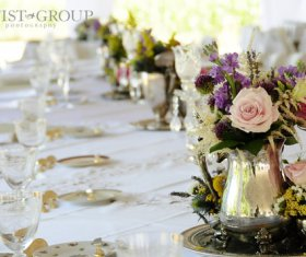 Wedding Table Display with Centerpiece