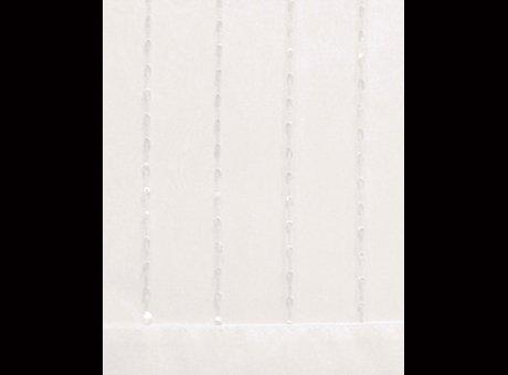 Ribbed White Organza