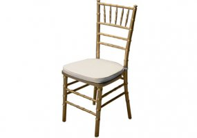 Gold Chiavari Chair with Ivory Pad