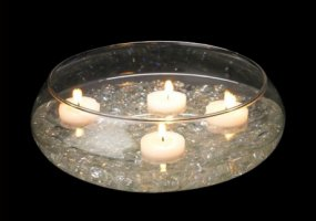 Floating Candle Bowl Vase