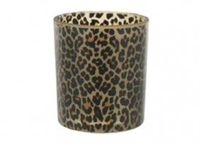 Single Leopard Print Votive Candle Holder